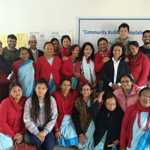 ネパールにおけるコミュニティ災害対応能力強化及び社会的弱者のための災害後心理社会的支援事業」(2018年3月〜2019年3月)